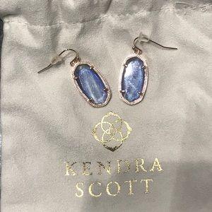 Kendra Scott Navy Dusted Glass Elle Earrings